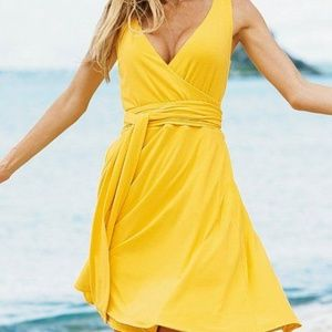 Beautiful Yellow Wrap Dress